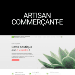 Boutique woocommerce artisan commerçant
