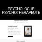 site-vitrine worpress psychologue psychothérapeute psychanalyste