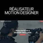 site-vitrine worpress réalisateur motion designer